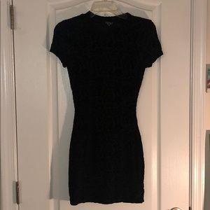LBD black dress w/velvet print